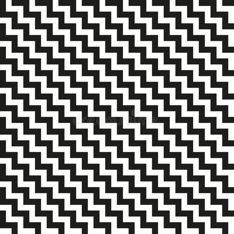 Textura sem emenda diagonal do ziguezague de Chevron ilustração do vetor