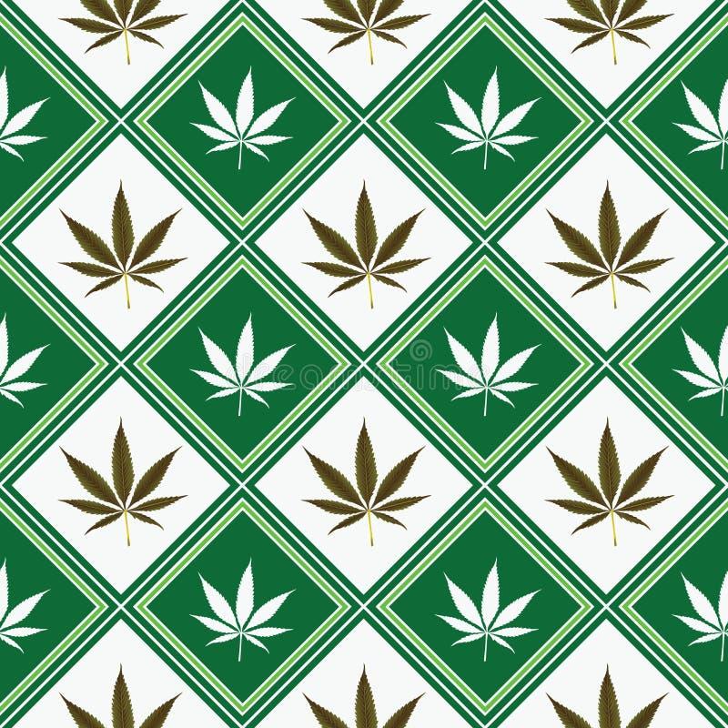 Textura sem emenda do cannabis ilustração royalty free