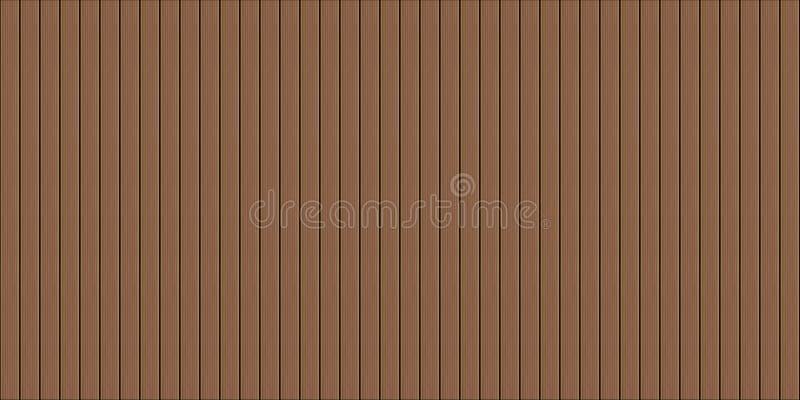 Textura sem emenda do decking de madeira ilustração royalty free