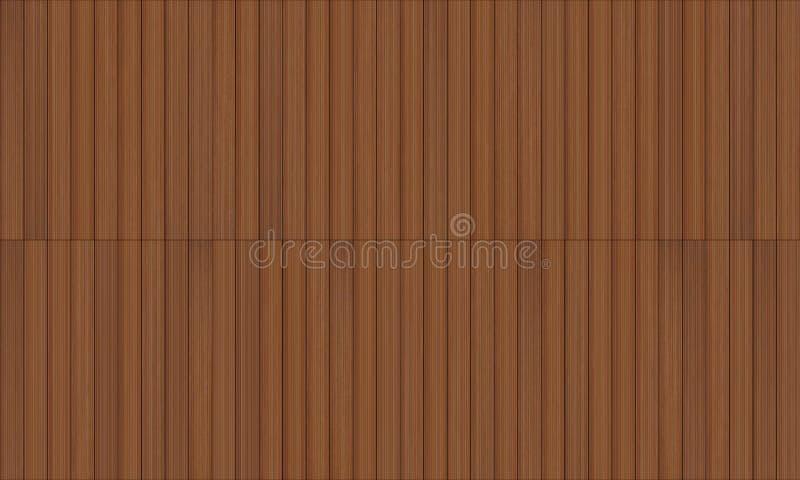 Textura sem emenda do decking de madeira ilustração do vetor