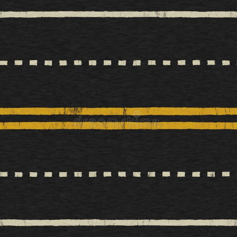 Textura sem emenda do fundo da estrada ilustração do vetor