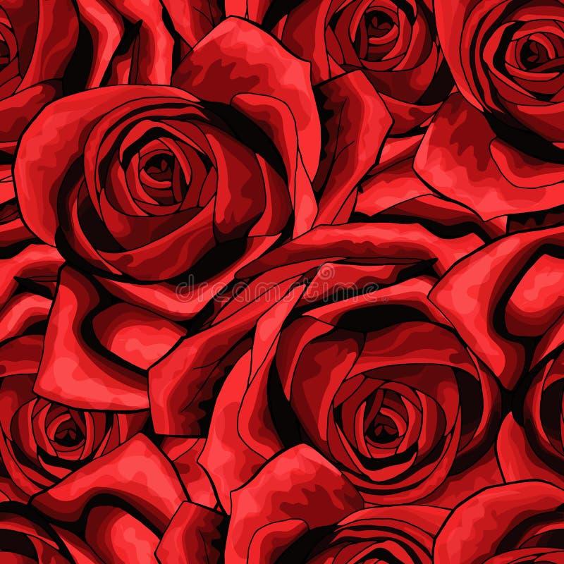 Textura sem emenda do fundo do teste padrão da flor de Rosa apropriado para imprimir a matéria têxtil ilustração stock