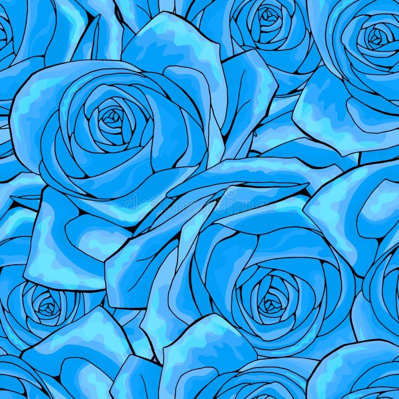 Textura sem emenda do fundo do teste padrão da flor de Rosa apropriado para imprimir a matéria têxtil ilustração do vetor