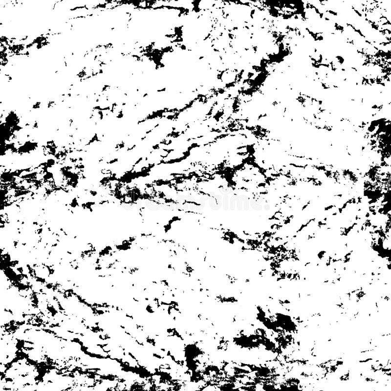 Textura sem emenda do grunge do vetor Pedra preto e branco abstrata w ilustração do vetor
