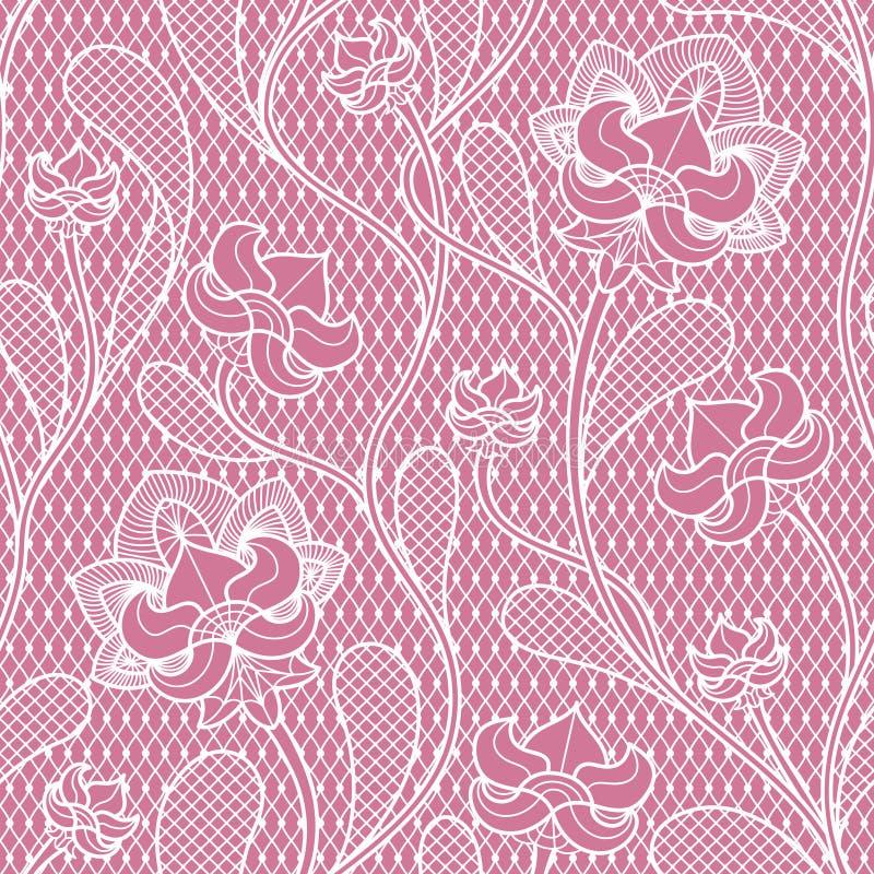 Textura sem emenda do laço floral Teste padrão retro do victorian ilustração stock