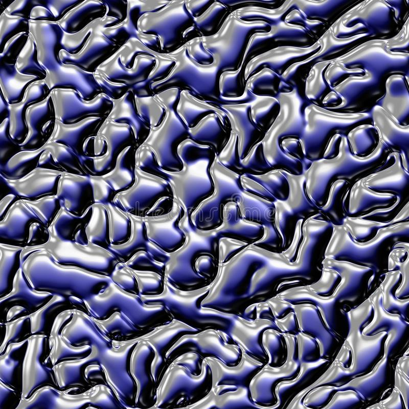 Textura sem emenda do metal líquido Fundo psicadélico colorido feito de entrelaçar formas curvadas Ilustração fotografia de stock