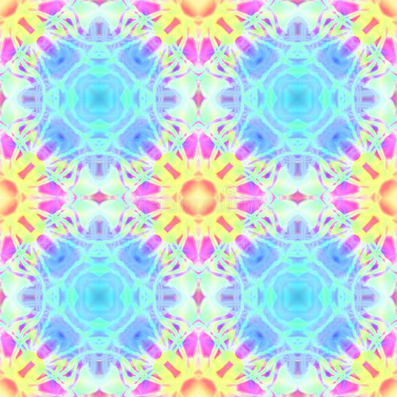 Textura sem emenda do ornamento calidoscópico do sumário do projeto ilustração do vetor