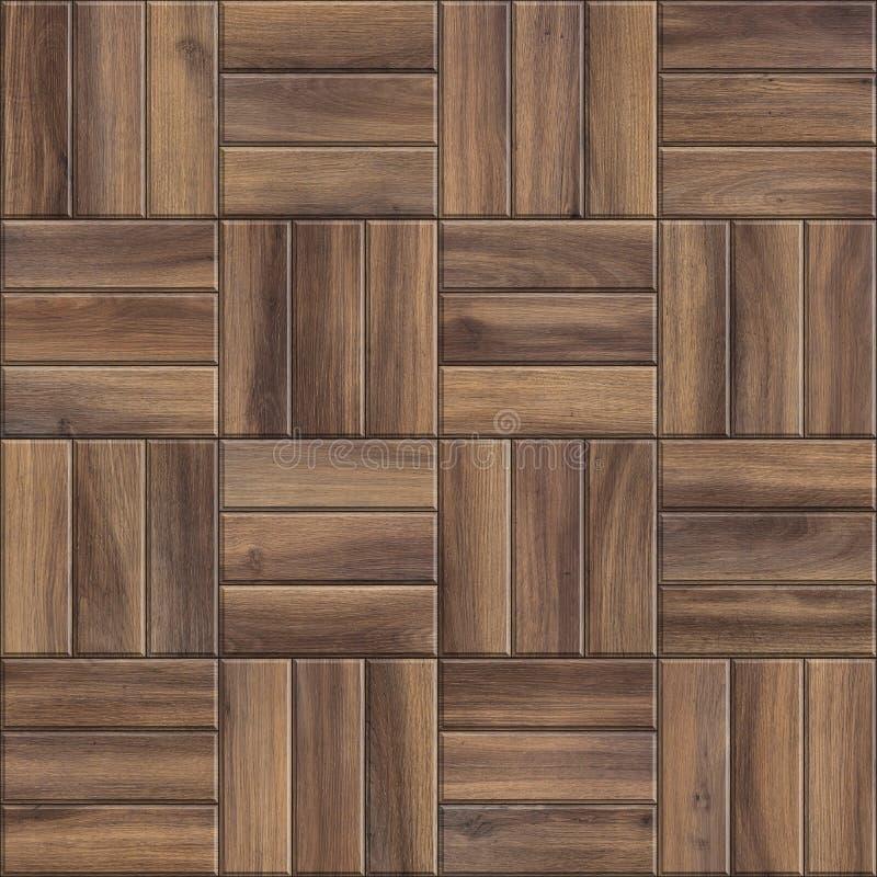 Textura sem emenda do parquet de madeira escuro Teste padrão de alta resolução da madeira quadriculado ilustração royalty free