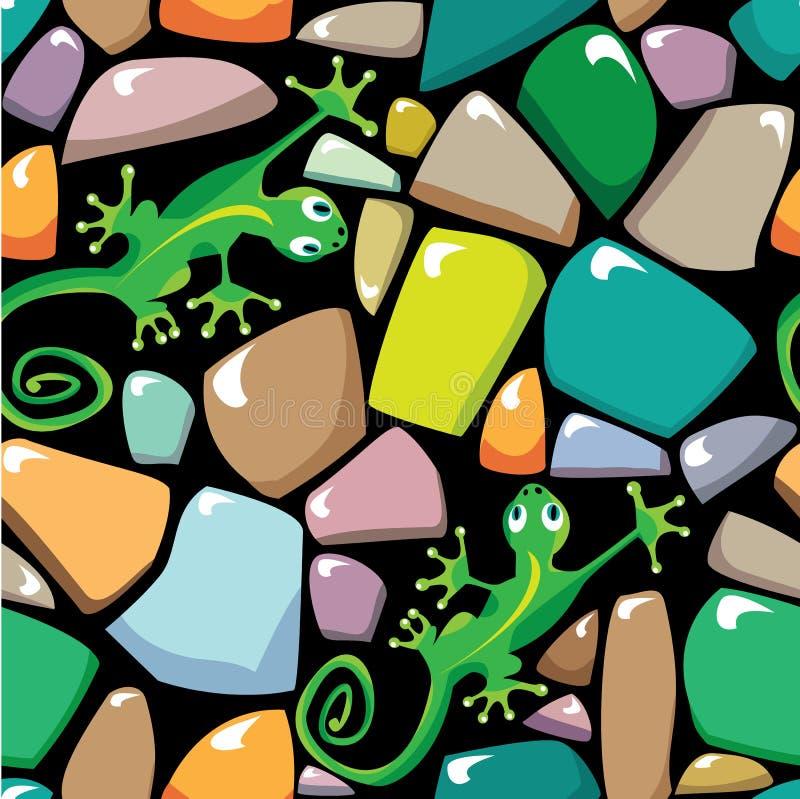 A textura sem emenda do seixo colorido stonewall ilustração stock