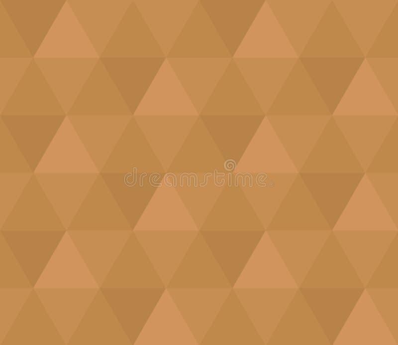 Textura sem emenda do teste padrão do marrom do hexágono ilustração royalty free