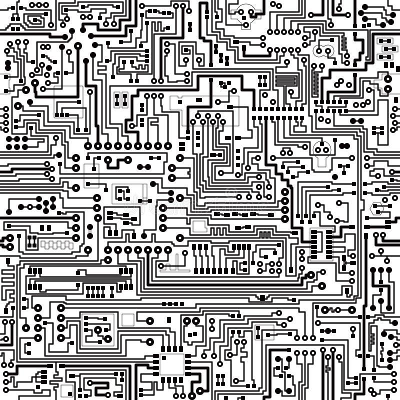 Textura sem emenda do vetor. Conexões e contatos. ilustração royalty free