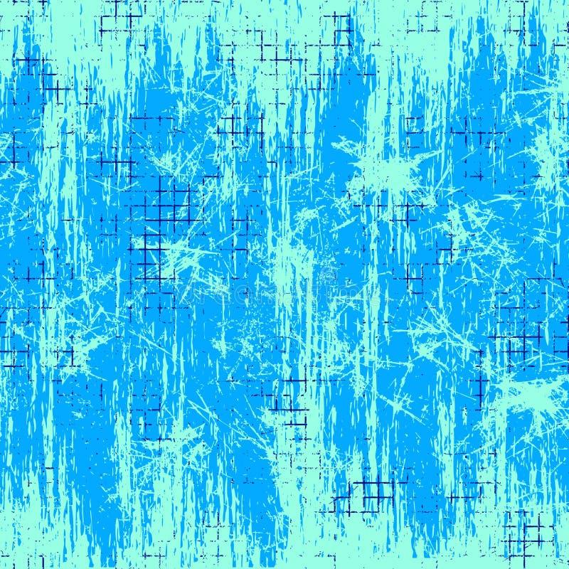 Textura sem emenda do vetor Fundo quadriculado azul do Grunge com atrito ilustração do vetor