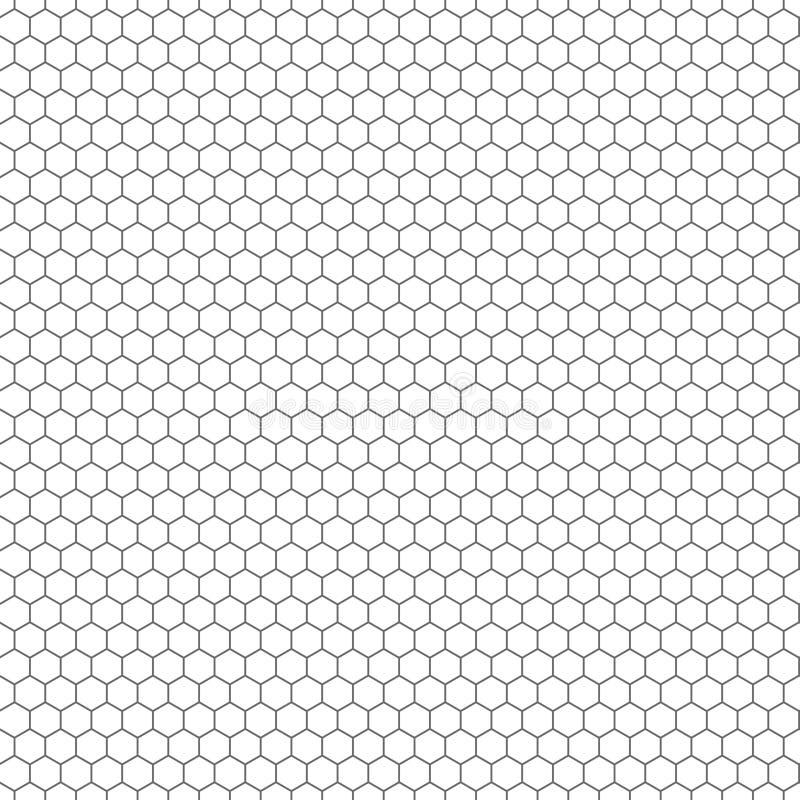 Textura sem emenda do vetor do hexágono Teste padrão sextavado da repetição da grade ilustração royalty free