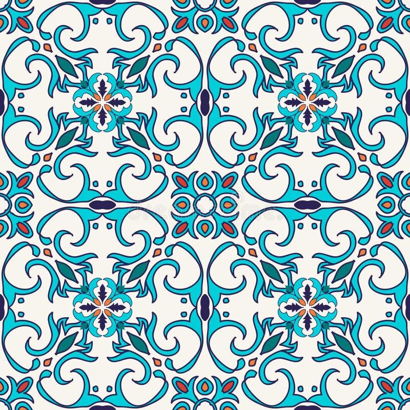 Textura sem emenda do vetor Teste padrão colorido bonito para o projeto e forma com elementos decorativos ilustração do vetor