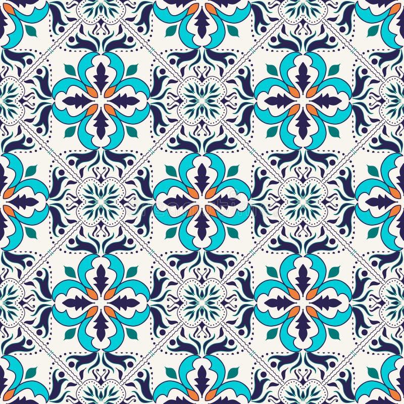 Textura sem emenda do vetor Teste padrão colorido bonito para o projeto e forma com elementos decorativos ilustração royalty free