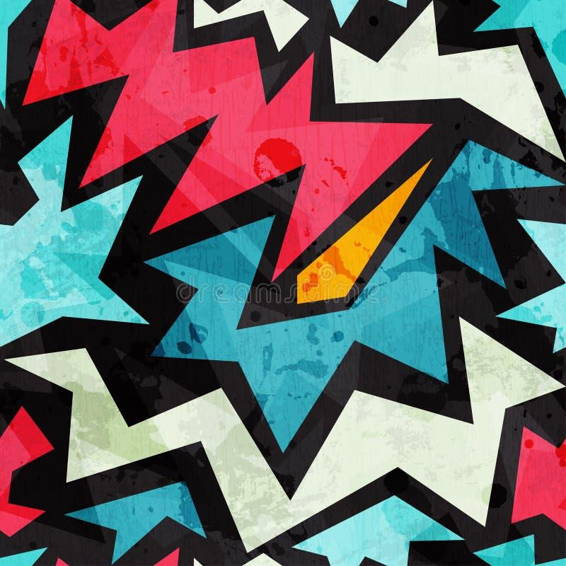 Textura sem emenda dos grafittis abstratos com efeito do grunge ilustração royalty free