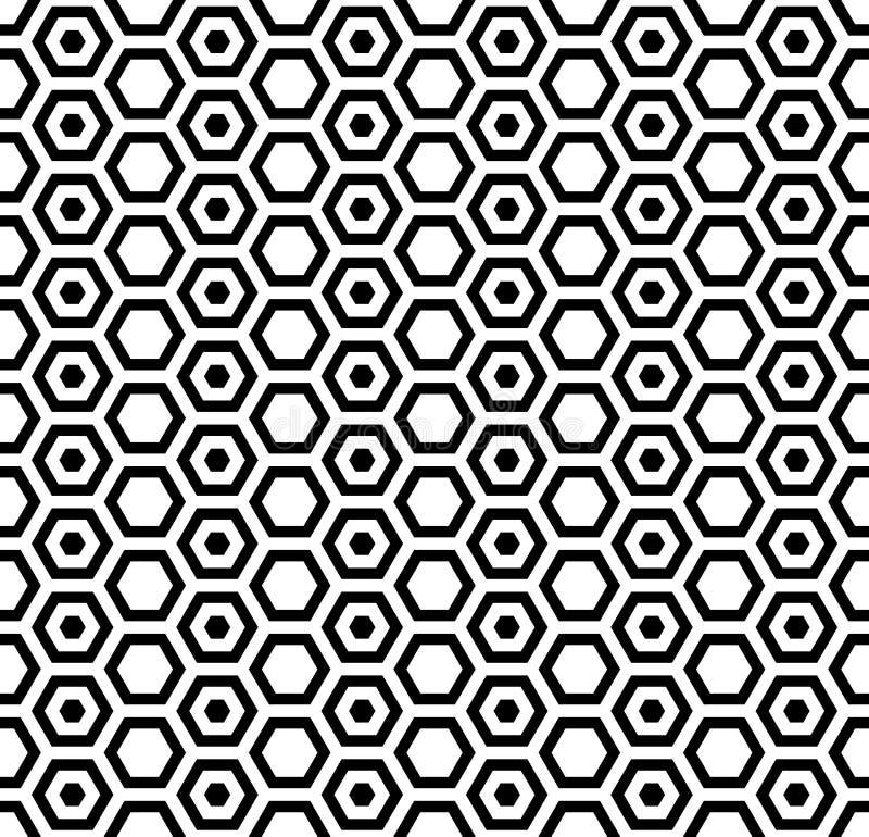 Textura sem emenda dos hexágonos Sem emenda ilustração royalty free