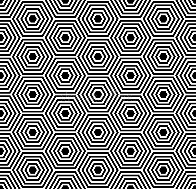Textura sem emenda dos hexágonos. Teste padrão geométrico. ilustração stock