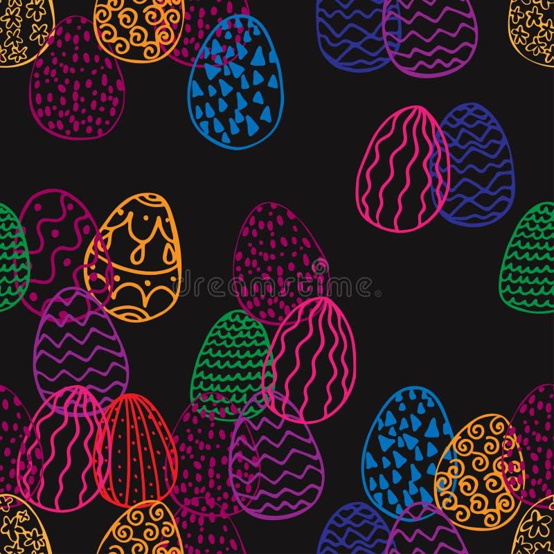 Textura sem emenda dos ovos da páscoa ilustração stock