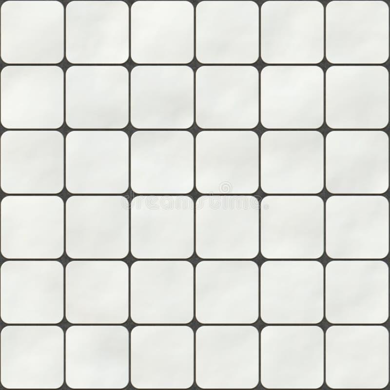 Textura sem emenda feita de telhas do quadrado branco ilustração stock