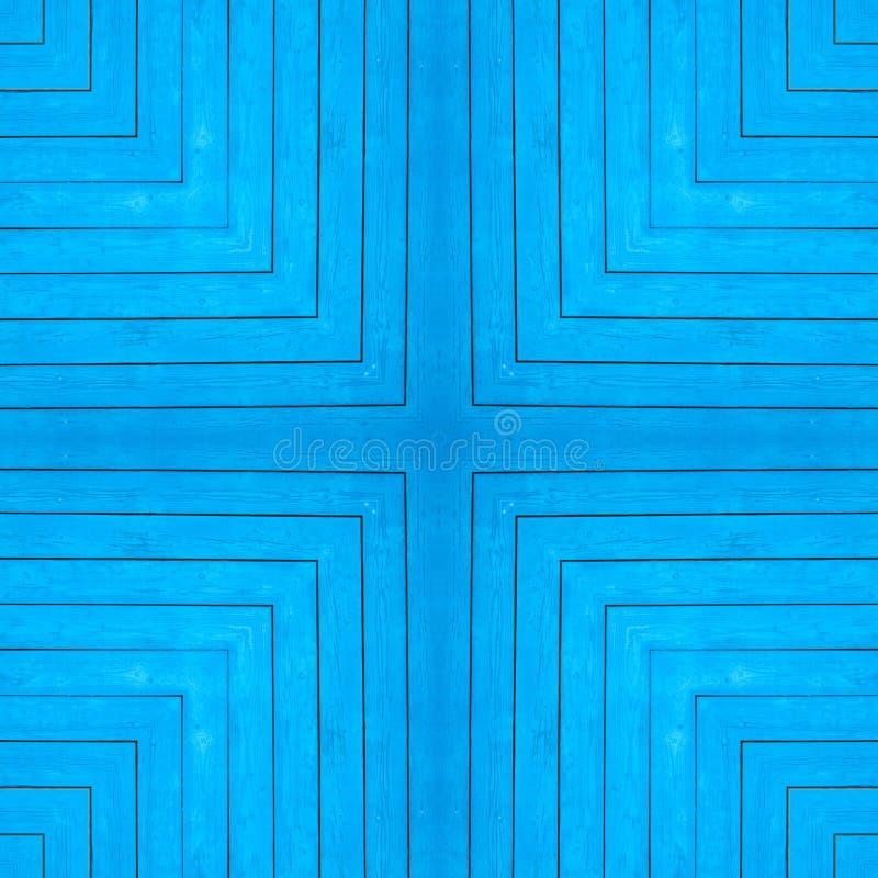Textura sem emenda, fundo, quadrado - parede azul da casa da vila das placas de madeira pintadas foto de stock royalty free