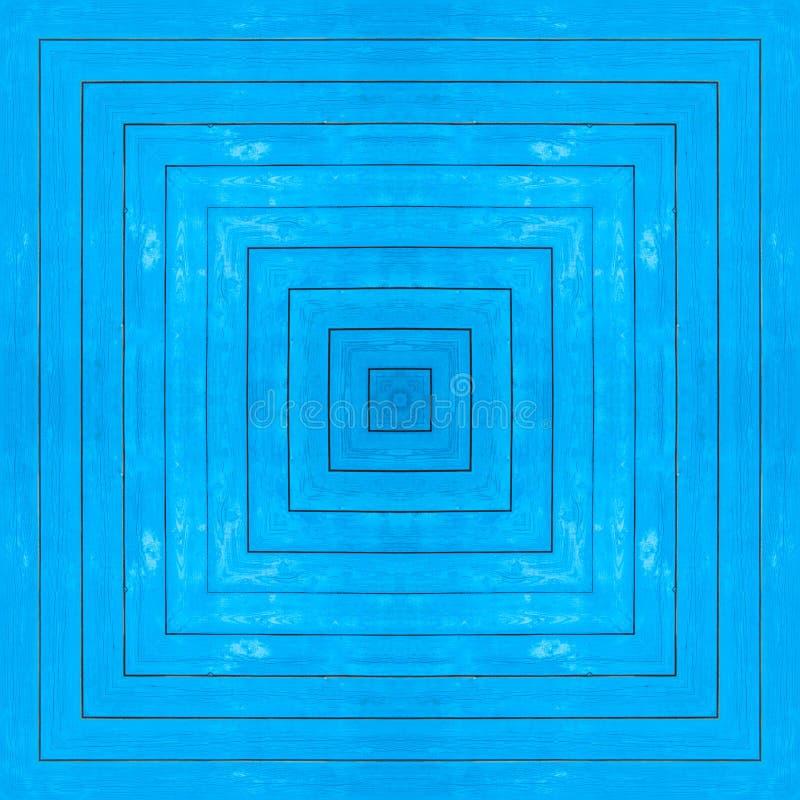 Textura sem emenda, fundo, quadrado - parede azul da casa da vila das placas de madeira pintadas imagem de stock