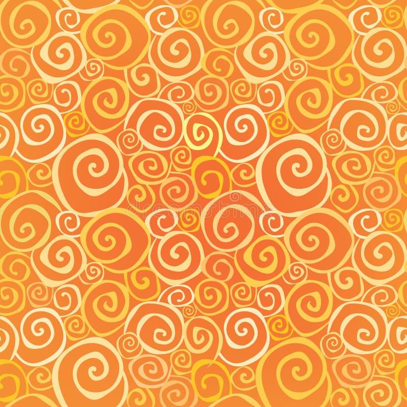 Textura sem emenda geométrica do redemoinho abstrato ilustração do vetor