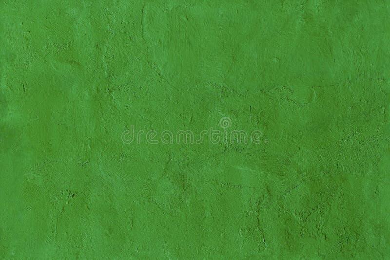 Textura sem emenda pintada áspera verde da parede fotos de stock