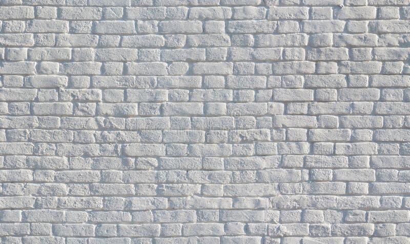 Textura sem emenda pintada branco da parede de tijolo fotografia de stock