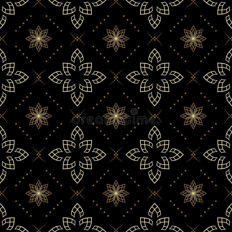 Textura sem emenda preta com elementos claros ilustração do vetor