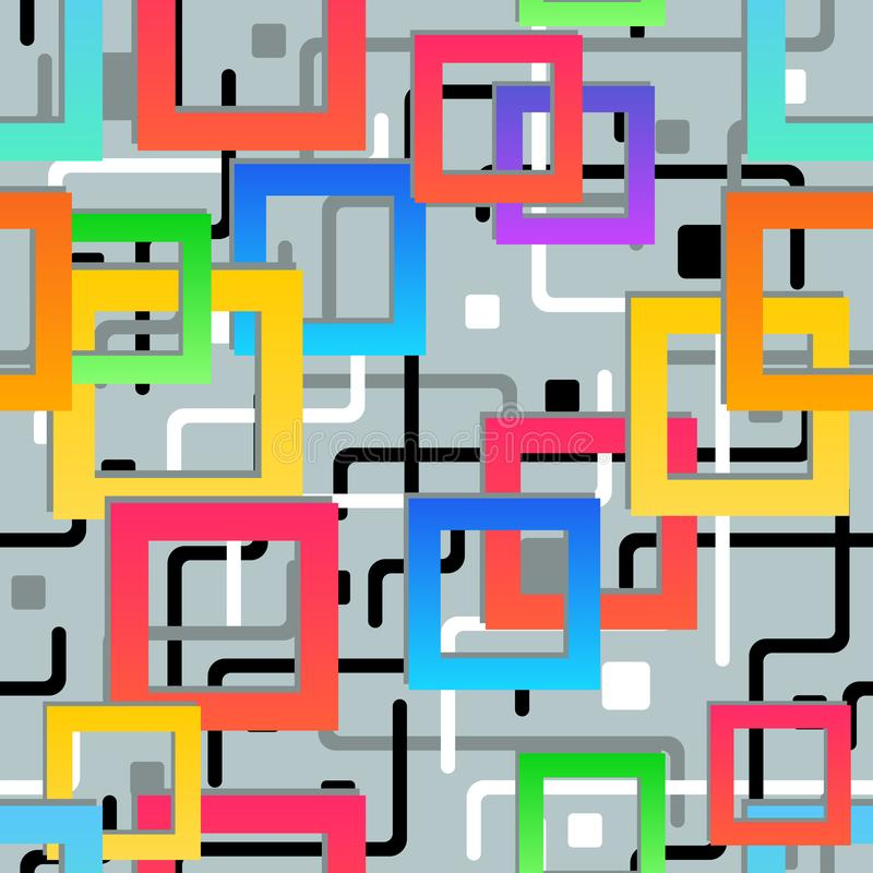 Textura sem emenda Teste padr?o geom?trico abstrato Fundo colorido moderno do mosaico ilustração stock