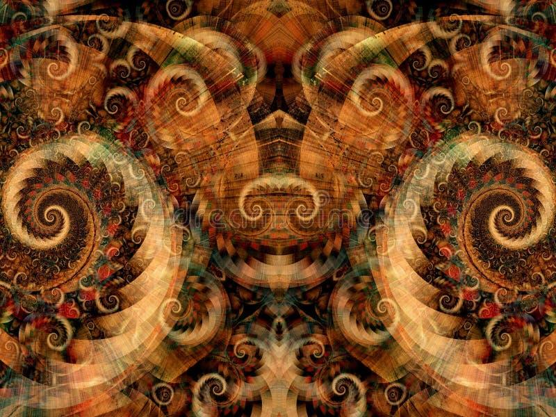 Textura simétrica da fantasia ilustração do vetor