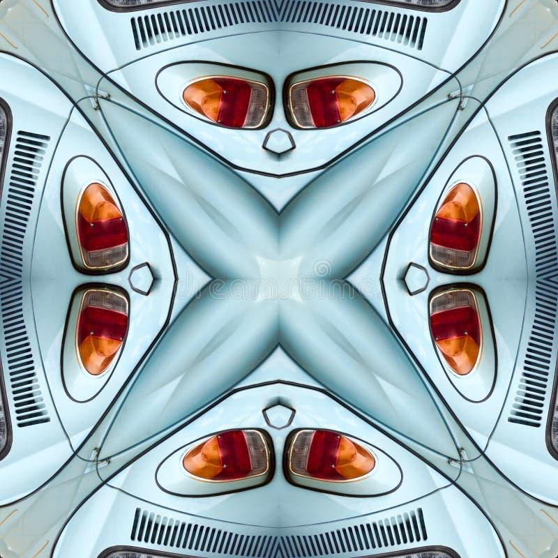 Textura simétrica inconsútil de las luces del coche del extracto del modelo imagenes de archivo