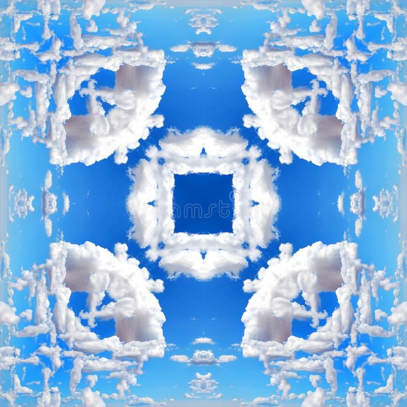Textura simétrica inconsútil de las nubes del extracto del modelo fotografía de archivo libre de regalías