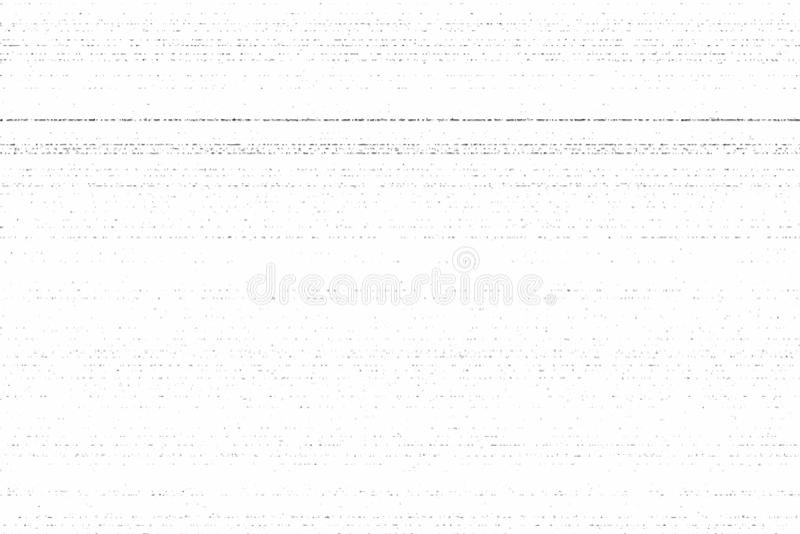 Textura sucia de la fotocopia del Grunge Ejemplo del vector, rayas horizontales libre illustration