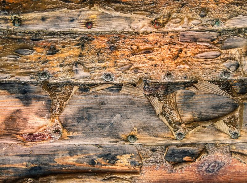 Textura sucia de tablones marrones de la madera imagen de archivo