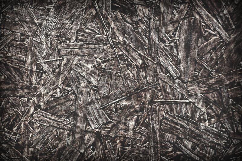 Textura sucia del Grunge de los tableros de OSB de pedazos de madera como el billete o el fondo fotografía de archivo libre de regalías