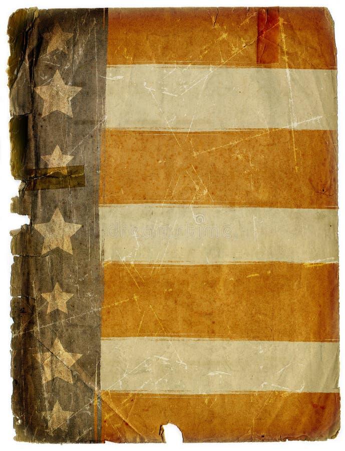 Textura suja do fundo do papel da bandeira americana de Grunge ilustração do vetor