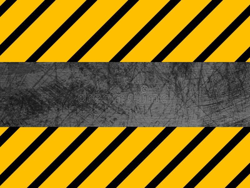 Textura suja do metal - industrial - advertência fotografia de stock royalty free