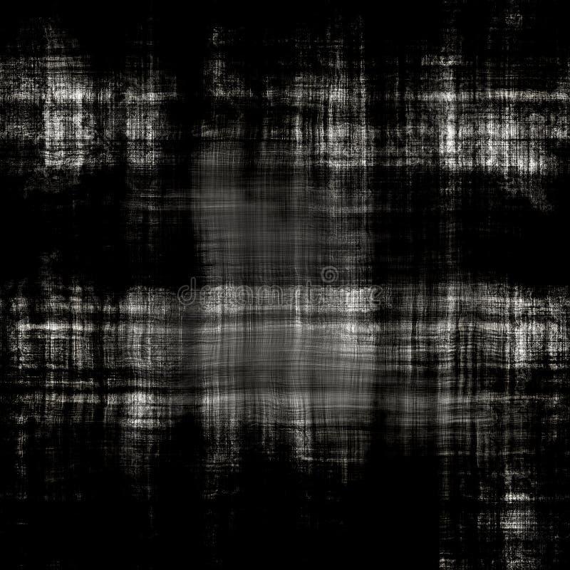 Textura suja preta sem emenda da lona ilustração royalty free