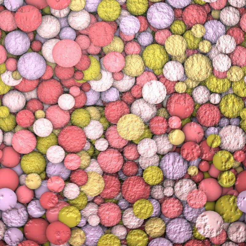 Textura/sumário do fundo com esferas ilustração royalty free
