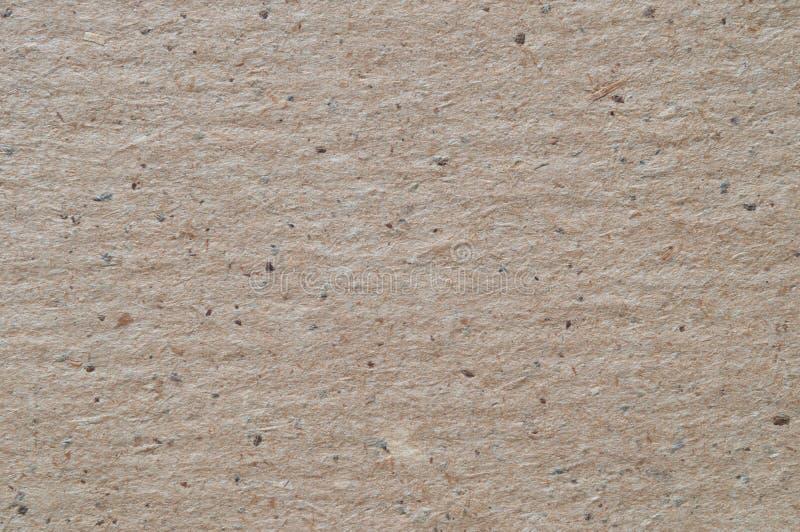 Textura superficial del papel de embalaje llano, macra foto de archivo