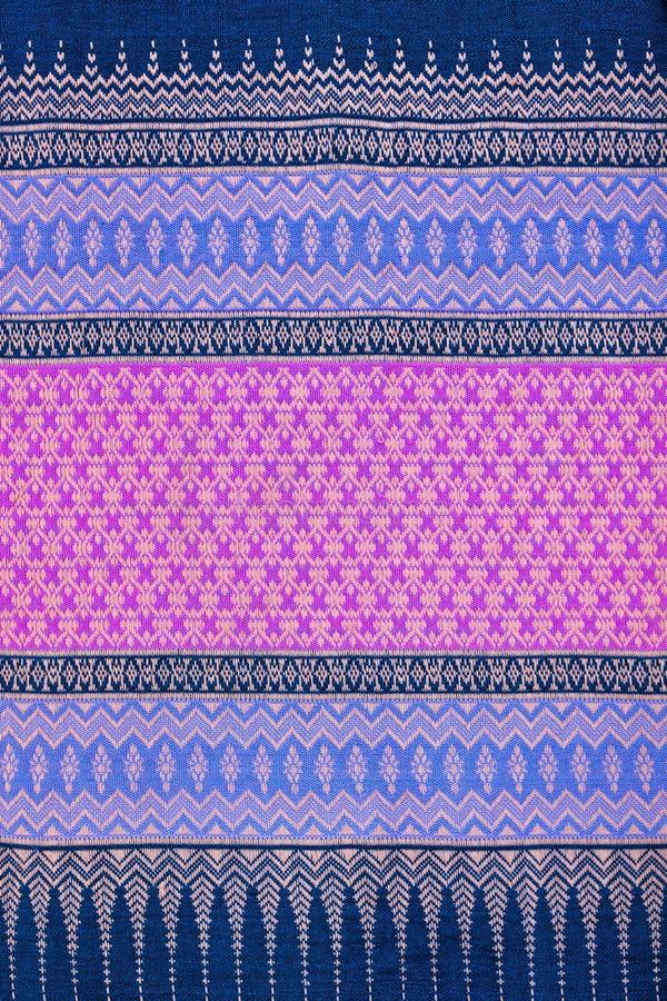 Textura tailandesa de pano imagens de stock royalty free