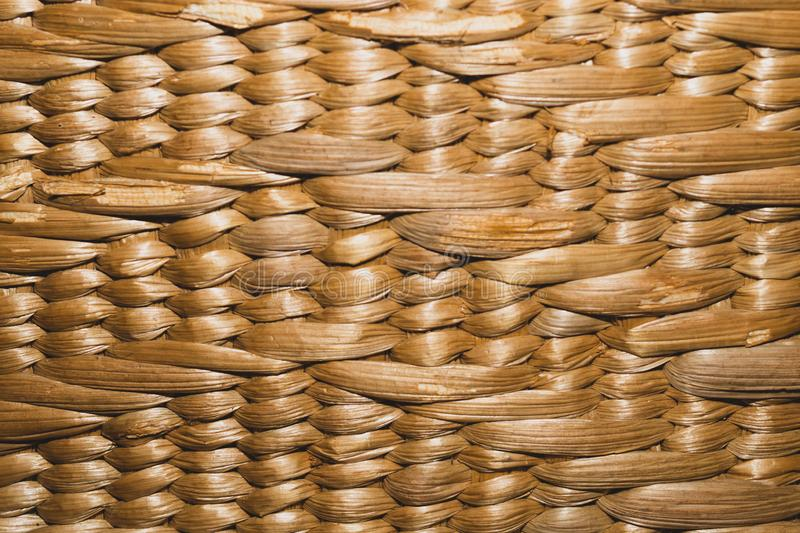 Textura tecida textura sem emenda da superfície da cesta cesta de vime da palha Handcraft a textura do weave imagens de stock
