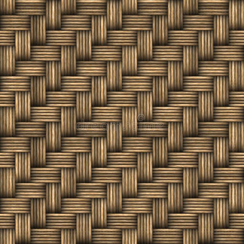 Textura tejida mimbre de la cesta ilustración del vector