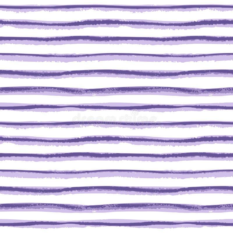 Textura tirada da listra da tinta mão sem emenda no fundo branco ilustração stock