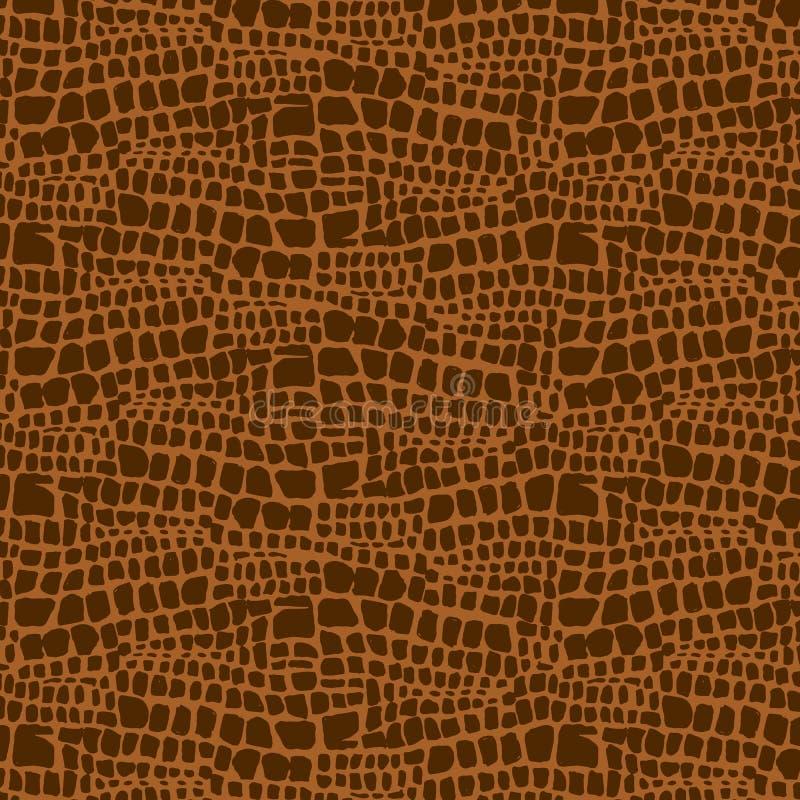 A textura tirada mão da pele animal, Vector o teste padrão sem emenda, cópia da pele animal de desenho de esboço ilustração do vetor