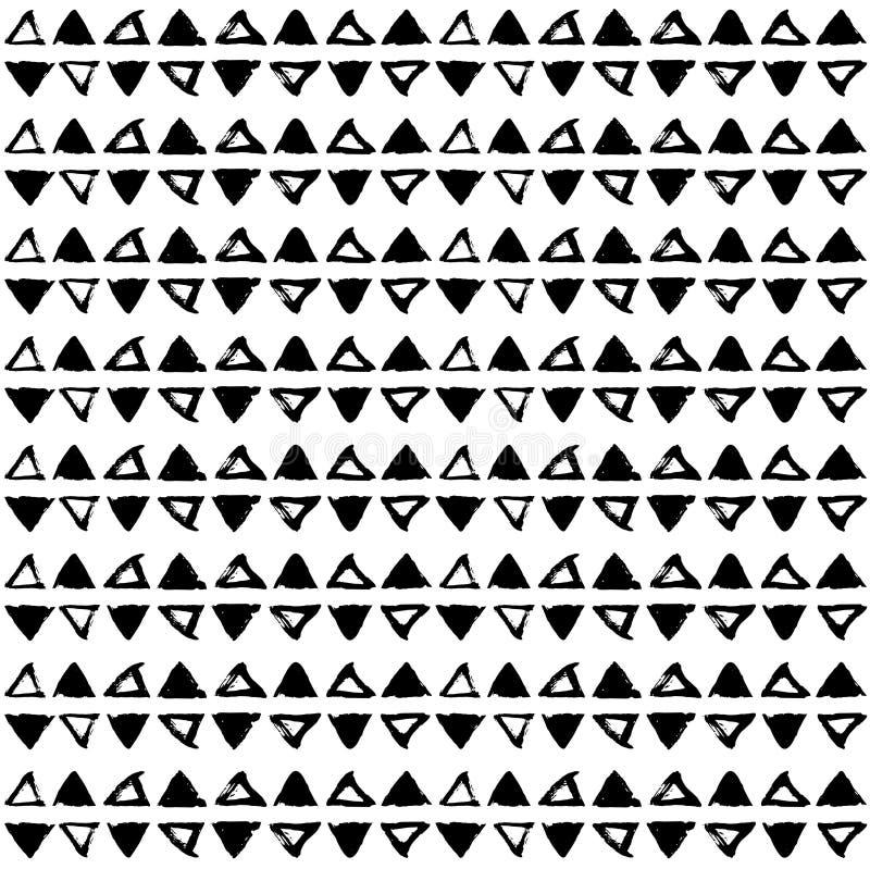 Textura tirada mão do vintage do vetor Teste padrão abstrato sem emenda ilustração do vetor