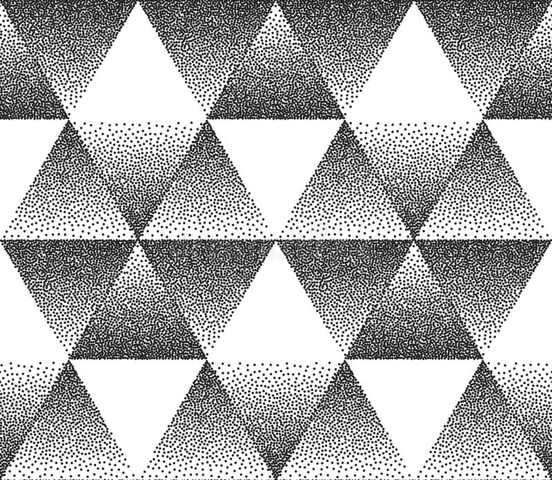 Textura triangular pontilhada ilustração stock