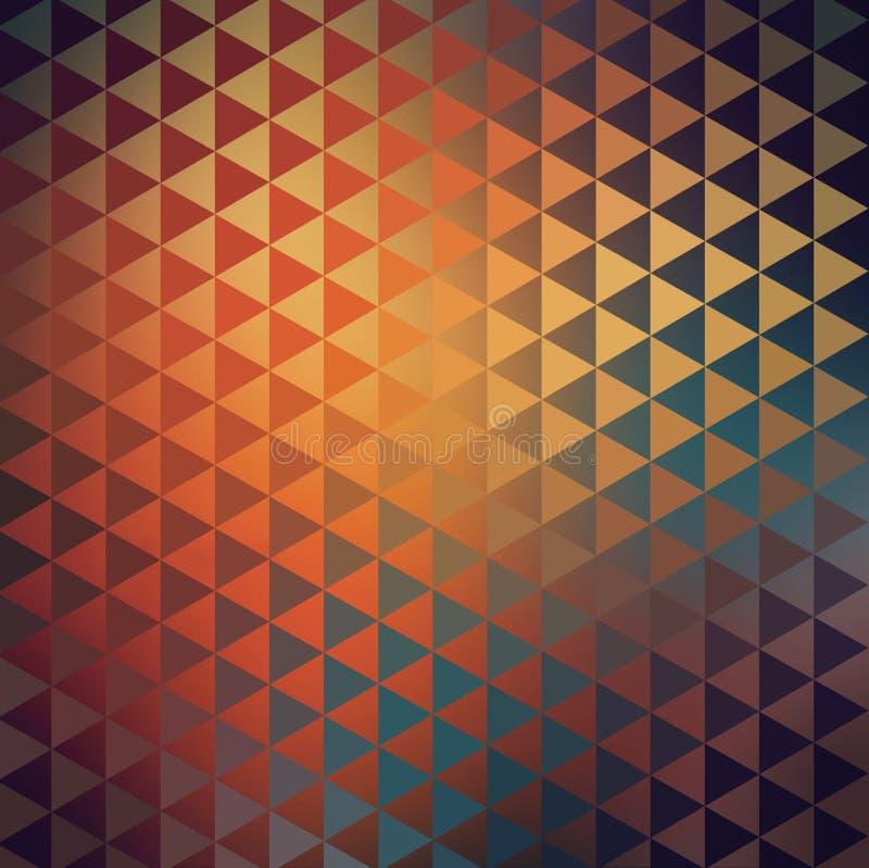 Textura tribal del nativo americano triangular geométrico stock de ilustración